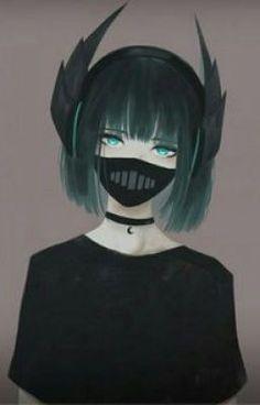 Anime Boy White Hair Purple Eyes Mask Hoodie Cool