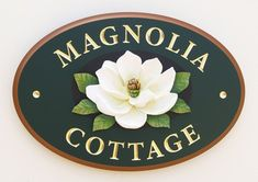 Magnolia Cottage House Sign | Danthonia Designs