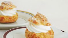 The cream puff is the Eiffel Towel of Parisian pastries: iconic, beloved, displayed everywhere, and irrefutably timeless. Just Desserts, Dessert Recipes, French Desserts, French Recipes, Cream Puff Recipe, Egg Wash, Bon Appetit, Baked Goods, Sweet Tooth