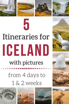 Iceland Itinerary 7 days - Iceland Road Trip Itinerary - Iceland Itinerary 10 days - Iceland Itinerary 4 days