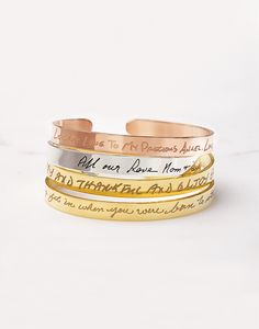 Actual handwriting bracelet, Handwriting cuff bracelet, Memorial jewelry for wedding, Sympathy gift, Keepsake jewelry
