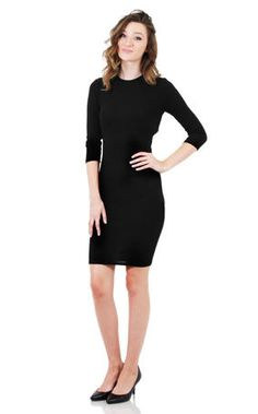JBLA Long Sleeved Open Back Dress - C2328 coming in black and burgundy at Estelle's Dressy Dresses