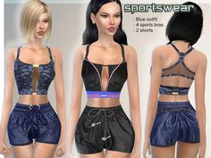 The Sims Resource: Set- Sportswear by Puresim • Sims 4 Downloads