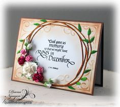 Diana Nguyen, Quietfire Design, God gave us Memory, calligraphy, card