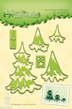 LeCrea 3D Cutting and Embossing Die Stencil - CHRISTMAS TREES - Leane 45.0829 |  | eBay!