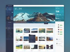 15 Innovative Dashboard Concepts // PhotoLytics