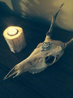 Embellished Deer Skull by EternalManifest on Etsy