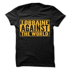 (Tshirt Top Tshirt Popular) LORRAINE Against The World Cool Shirt Discount Hot Hoodies, Funny Tee Shirts