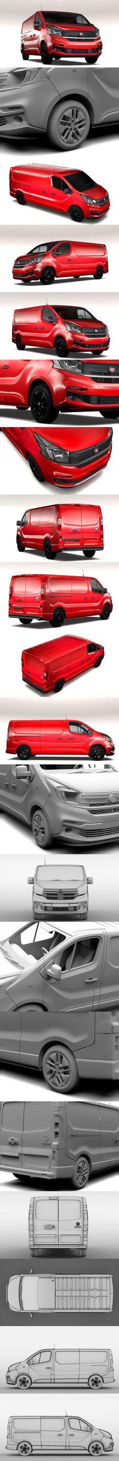 Fiat Talento Van L2 2017. 3D Vehicles