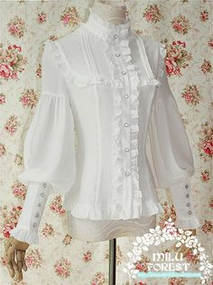 """Milu Forest """"Pride and Prejudice"""" Lolita Leg-of-mutton Sleeves Blouse"""