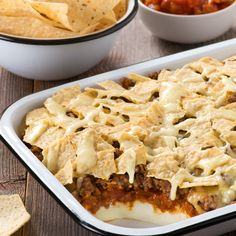 Chili Cheese Bake - Create the tastiest Chili Cheese Bake, Tostitos® own Chili Cheese Bake Recipe with step-by-step instructions. Make the best Chili Cheese Bake for any occasion.