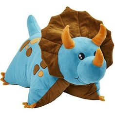 64d87838f332 Your little one will adore snuggling up with this Pillow Pets Blue Dinosaur  Stuffed Animal Plush Toy whether at home or on the go!