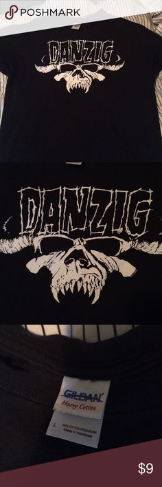 Danzig Mens size large tee Mens large Danzig tee worn a few times still in great condition check out other listings for more danziG misfits stuff Gildan Shirts Tees - Short Sleeve
