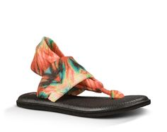 What's not to love about the Sanuk Yoga Sling 2 Prints? These women's sling back sandals feature a lightweight, two way stretch knit fabric upper with sling comfort construction. The footbed is made from real yoga mat with a sealed edge. A happy U Sponge rubber outsole keeps your feet feeling great all day. Slide into the Sanuk Yoga Sling 2 Prints and enjoy your day!
