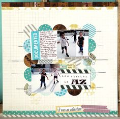 Elles Studio Blog-Love the Circles in the background! Great way to use up Patterned paper.