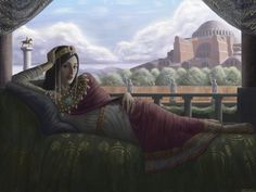 The Byzantine Empress. I decided to redo a painting i did in 2011 to see how far i have progressed. I am fairly happy with the end result. Medieval World, Medieval Fantasy, Fall Of Constantinople, Byzantine Architecture, Ottoman Turks, Byzantine Art, Roman History, Fantasy Setting, High Fantasy