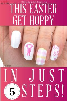 Hop to getting your nails ready this Easter with Be Hoppy! Perfect for your inner Easter Rabbit! In just 5 easy-steps you can have salon perfect nails at do it yourself prices.  Be Hoppy features a sweet bunny and rainbow check design. It has a frost finish. Each set includes 16 double-ended nail polish strips. Your Easter nail designs will never be the same!