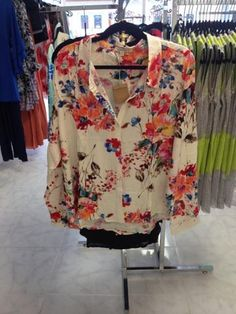 Floral button up. Great for work, or dress it down for a cute, casual look! $25