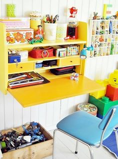 18 Creative And Modern Desk Space For Kids