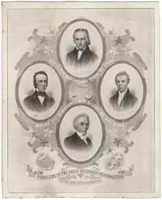 Four Founders engraving: Thomas Campbell, Alexander Campbell, Barton Stone, & Walter Scott
