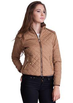 Quilted Padded Zipper Jacket  #paddedjacker #jacket #quiltedjacket