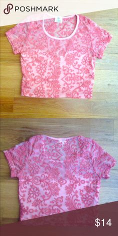 "Pins & Needles Lace Crop Top From Urban Outfitters Excellent used condition, no noted flaws! Coral color. Smoke and pet free home.Shoulder to bottom hem measures 16 1/2"". Bust measures 15"" flat (Or 30"" doubled.) Please note that this is junior's sizing! I always accept reasonable offers through the offer button! Looking to only sell on Posh. Urban Outfitters Tops Crop Tops"