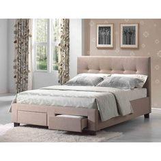 Emerald Home Sydney Upholstered Storage Bed, Size: Queen - Platform Bed Sets, Upholstered Platform Bed, Upholstered Beds, Murphy-bett Ikea, Furniture Factory, Furniture Outlet, Online Furniture, Bed Storage, Quartos