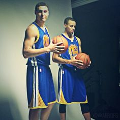 Another photo shoot for the #SplashBrothers, this time for Sports Illustrated. Be on the lookout in a coming edition. #Warriors