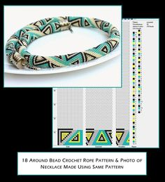18 around bead crochet rope pattern and a photo showing a necklace made using that pattern. I did not create the pattern or necklace but put the two together as I find it useful to see the finished piece alongside the pattern when I am choosing my next project. I thought you might too. 18 around bead crochet rope pattern and a photo showing a necklace made using that pattern. I did not create the pattern or necklace but put the two together as I find it useful to see the finished piece…