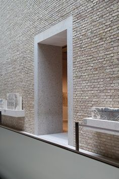 door threshold, neues museum Berlin by david chipperfield architects.