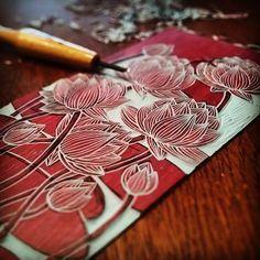 #linoleo #linocut #linoleum #linoprint #printmaking #grabado
