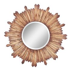 Weathered wood framed wall mirror.           Product: Wall mirror    Construction Material: Mirrored glass and woo...