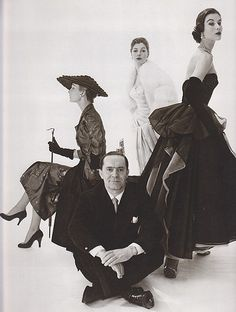 Christian Dior and his models. ♥ (by HonorataQueen)