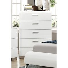 Coaster 203505 Home Furnishings Chest Glossy White ** You can get additional details at the image link. (This is an affiliate link)