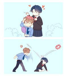 Gekkan Shoujo Nozaki-kun - Flower crowns with Hori and Kashima Manga Anime, Anime Art, Me Me Me Anime, Anime Love, Manhwa, Monthly Girls' Nozaki Kun, Hirunaka No Ryuusei, Gekkan Shoujo Nozaki Kun, Animes Wallpapers