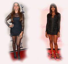 black mini dress, Sofia Vergara VS Naomi Campbell fashion diva who-wore-it-better celeb celebrity