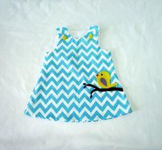 Chevron Dress  Baby Girl Dress  Toddler Dress  Baby by LoopsyBaby, $28.00
