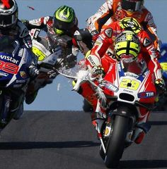 Andrea Iannone hits seagull AustralianGP