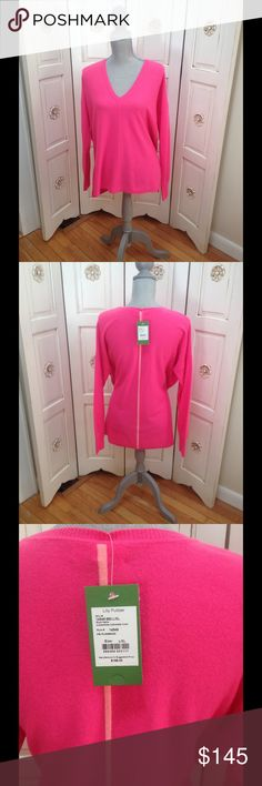 NWT Cashmere Lilly Sweater Beautiful brand new Lilly sweater. Great for cool summer evenings! Lilly Pulitzer Sweaters V-Necks