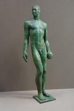 AUDFRAY Etienne, sculpture en bronze - La Basketteur - 1/8 - 2000