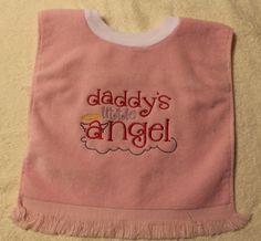 Handpicked Grandad In Heaven Embroidered Baby Bandana Dribble Bib Gift Rainbow