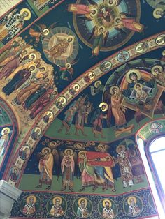 "Altar, Biserica ""Adormirea Maicii Domnului"" - Tebea, Fresca, by Catalin Balut Orthodox Prayers, Christian Artwork, Church Interior, Byzantine Icons, Church Architecture, Orthodox Icons, Mural Painting, Religious Art, Fresco"