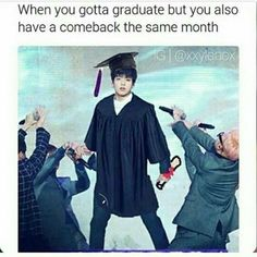 Today is the day Jungkook graduate my baby already grown up (even though he is soooo much older than me)