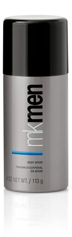 Este ligero y vigorizante spray para el cuerpo puede ser aplicado en cualquier momento del día para refrescarte. Spray para el Cuerpo MKMen®. #parael