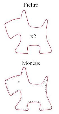 Scotty dog template- fun with felt project inspiration idea❤︎ little felt scottie dog template - cachorrobag tag Mire bordados: Perrito Use with Harry the Dirty Dog!Scotty Dog: tutor for Petit Chien.Zips and Things Felt Patterns, Applique Patterns, Sewing Patterns, Sewing Toys, Sewing Crafts, Sewing Projects, Felt Dogs, Dog Pattern, Felt Art
