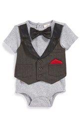 Miniclasix Layer Look Bodysuit (Baby Boys)