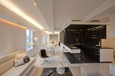 Modern apartment design - recessed lighting