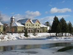 Calabogie Peaks Hotel overlooking the pond in winter - Picture of Calabogie Peaks Hotel - Tripadvisor Snowboarding, Skiing, Winter Pictures, Ontario, Pond, Trip Advisor, Mansions, House Styles, Snow Board