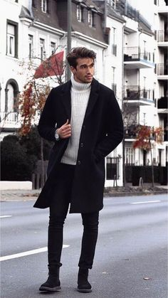 Wonderful Men Winter Outfit Ideas is part of Mens winter fashion - Men's winter wear is no more a protection garment but a style statement Gone are the days of a simple […] Mode Masculine, Masculine Style, Old School Fashion, Fashion Mode, Fashion Menswear, Classy Mens Fashion, Suit Fashion, Fashion Hair, Fashion Styles