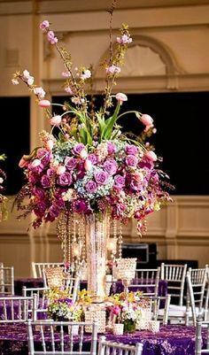 Featured Photographer: Oscar Rajo; Wedding reception centerpiece idea.